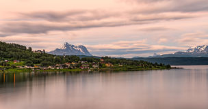 Sunrise above Boge, Nordland county, Norway Stock Image