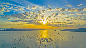 Sunrise above Chalong pier Stock Images