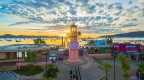 Sunrise above Chalong pier Stock Image