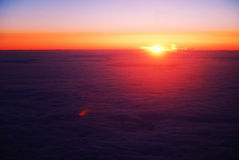 Sunrise Above Clouds Stock Image