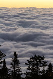 Sunrise above the clouds Royalty Free Stock Photography