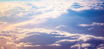 Sunrise above clouds Royalty Free Stock Photography
