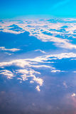 Sunrise above clouds Stock Photography