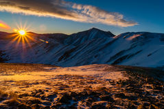 Sunrise Above Loveland Pass stock photos