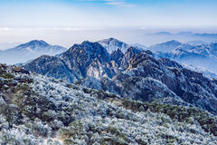 Sunrise above the peaks of Huangshan National park. Stock Photography