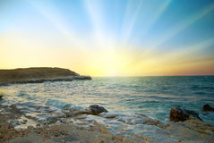 Sunrise above the sea Stock Images