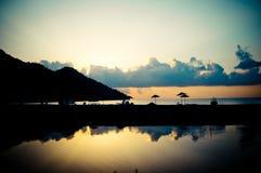 Sunrise above the sea coast Stock Image
