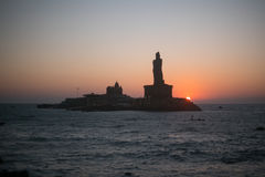 Sunrise above the sea Kanyakumari Comorin cape Stock Photos