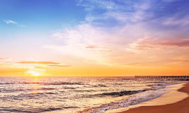 Sunrise above the sea. Royalty Free Stock Images