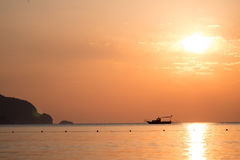 Sunrise above sea Turkey Royalty Free Stock Image
