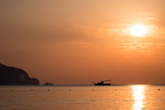 Sunrise above sea Turkey Royalty Free Stock Images