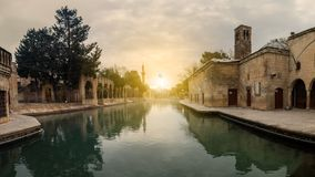 Sunrise at Abraham`s Pool royalty free stock photography