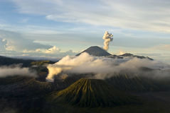 SUNRISE AT THE ACTIVE BROMO VULCANO  - JAVA - INDO Stock Image