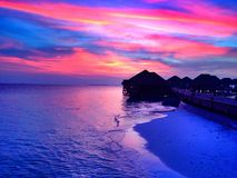 Sunrise. From Adharan prestige Vaadhoo maldives one if the smallest and v nice 5 star hotel in Maldives Stock Images