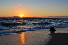 Sunrise. On the Aegean Sea. Greece Royalty Free Stock Images