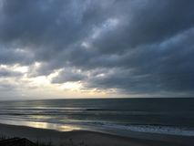 Sunrise over the Atlantic Ocean off North Carolina Stock Photos