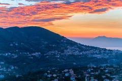 Sunrise in Agerola stock image