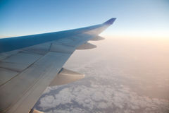 Sunrise from Airplane Royalty Free Stock Photography