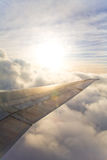 Sunrise from an Airplane Stock Images