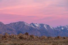Sunrise at Alabama Hills Stock Images
