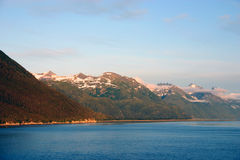 Sunrise in alaska. Alaska Mountains Royalty Free Stock Photo