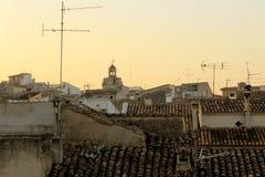 Sunrise in Alcudia, Mallorca, Spain. Sunrise in the historical centre of Alcudia, Mallorca, Spain Stock Photography