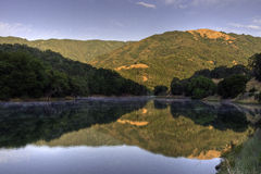 Sunrise on Almaden Reservoir Stock Images
