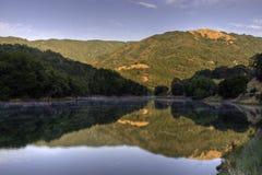 Sunrise on Almaden Reservoir stock images