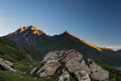 Sunrise on the Alps Royalty Free Stock Photos