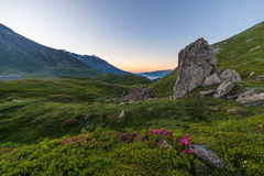 Sunrise on the Alps Stock Images