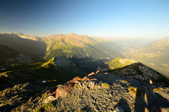 Sunrise in the Alps Royalty Free Stock Photo