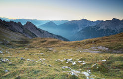 Sunrise in Alps mountains Stock Photography