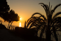Sunrise on Altea bay Royalty Free Stock Photography