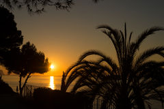 Sunrise on Altea bay Stock Images