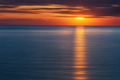 Sunrise. Amazing abstract sunrise in the Black sea Royalty Free Stock Image