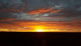 Sunrise. An amazing sunrise in the Australian Outback Royalty Free Stock Photos