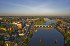 Sunrise in Amboise Stock Photos