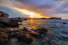 Sunrise in Ammouliani Island, Greece Royalty Free Stock Photo