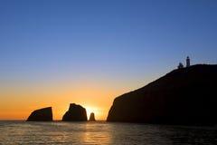 Sunrise at Anacapa Island Stock Images
