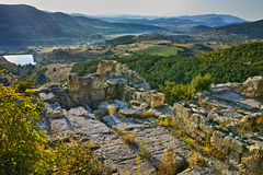 Sunrise at The ancient Thracian city of Perperikon, Bulgaria Royalty Free Stock Photography