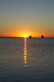 Sunrise And Boats Stock Image