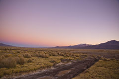 Sunrise in the Andes mountains. Natural Park of Sajama, Bolivia. Stock Photo