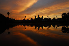Sunrise at Angkor Royalty Free Stock Photo