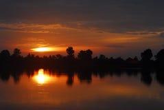 Sunrise at Angkor Royalty Free Stock Image