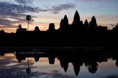 Sunrise in Angkor Stock Photo