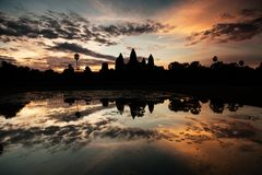 Sunrise at Angkor temple Stock Image