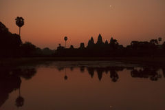 Sunrise at Angkor temple Stock Images