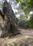 Sunrise at Angkor Thom Stock Image
