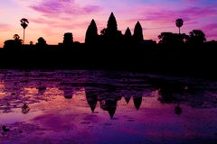 Sunrise at Angkor Wat royalty free stock images