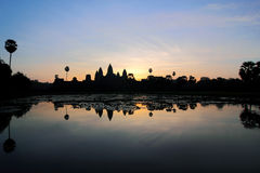 Sunrise at Angkor Wat Royalty Free Stock Photos